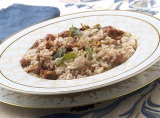 Il riso con salsiccia alla monzese