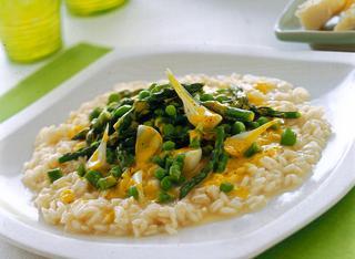 Risotto con asparagi e zafferano
