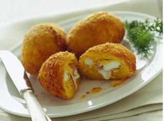 Crocchette di tagliolini con prosciutto e mozzarella