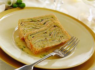 Terrina di lasagne e salmone fresco