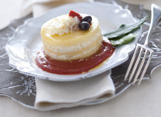 Lasagnette gialle con baccalà mantecato