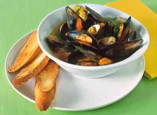Ricetta: zuppetta di molluschi al brodetto piccante