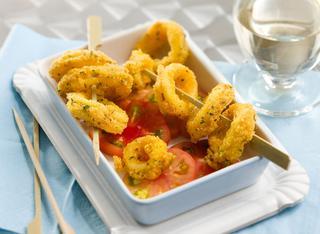 Ricetta Calamari fritti in crosta di mais