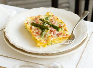 Ricetta lasagne agli asparagi e prosciutto cotto