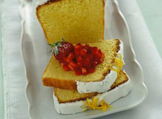 Plum cake glassato