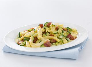 Carbonara con le zucchine e bacon