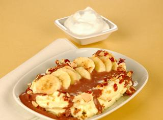 Banana split al croccante
