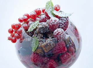 Boule ai frutti di bosco