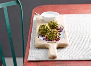 Polpette di spinaci e pistacchi