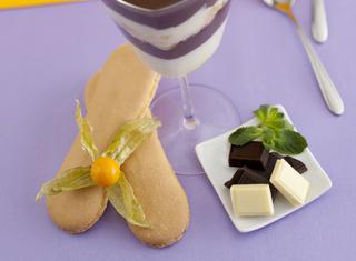 Panna cotta al cioccolato e menta
