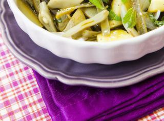 Fagiolini, zucchine e taccole in agrodolce