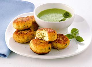Polpette di merluzzo con salsa verde