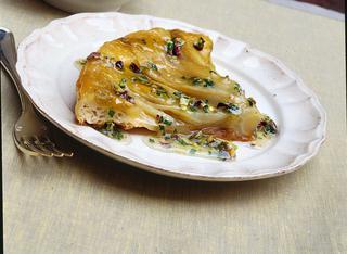Ricetta: torta rovesciata di insalata belga e pistacchi