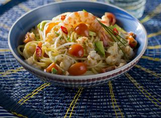Ricetta: spaghetti gamberi e avocado
