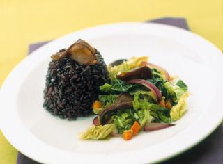 Verza stufata al riso nero