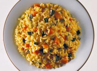 Risotto con zucchine e curry