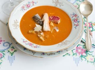 Zuppa alla certosina con filetti di pesce