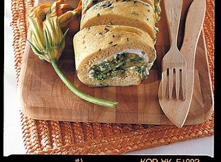Rotolo di frittata con zucchine