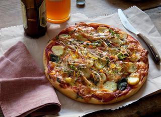 La pizza rustica alla pancetta