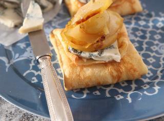 Ricetta: crepes al gorgonzola e mostarda di pere
