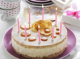 Torta biscuit con pere e mascarpone