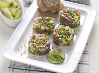 Mini tartare di tonno e avocado
