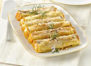 Ricetta: cannelloni di zucca e formaggio di capra
