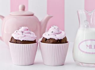 Muffin al cioccolato e crema di burro