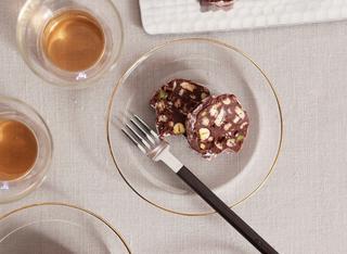 Salame di cioccolato ai pistacchi