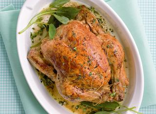 Pollo al forno agli aromi