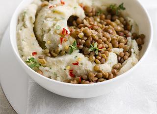 Come si preparare il purè di patate e lenticchie