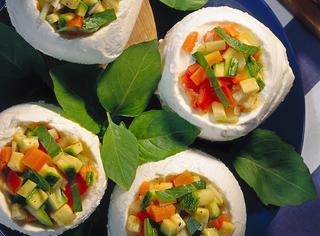 Mozzarella ripiena di verdure