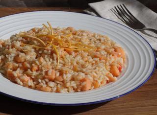 Ricetta: risotto al pompelmo rosa e gamberi