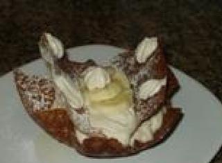 Tegoline al miele e mandorle farcite con banane
