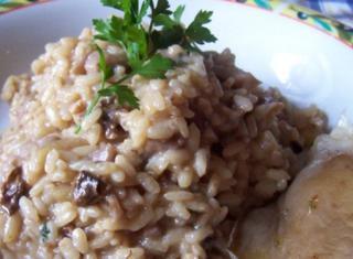 Ricetta: risotto con mele e funghi