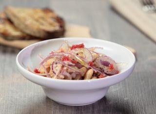 Tonno con cipolle e fagioli