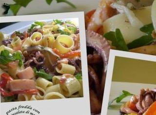Pasta fredda con insalata di mare