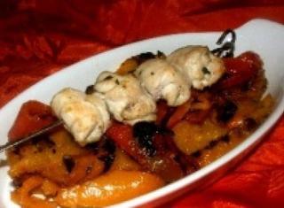 Bocconcini di pollo e peperoni al forno