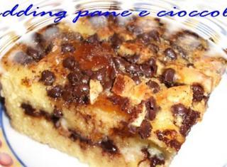 Pudding di pane e cioccolato