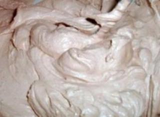 Crema con cioccolato, panna e mascarpone
