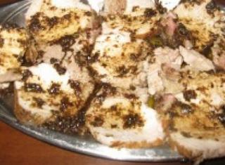 Arrosto con salsa saporita