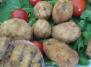 Polpettine di riso, patate e tritato