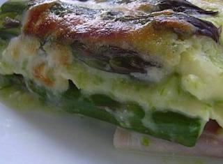 Lasagne agli asparagi leggere