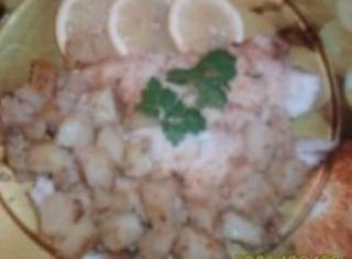 Merluzzo gratinato con patate al forno