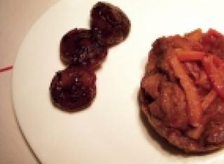 Spezzatino di maiale all'arancia e radicchio rosso di Treviso