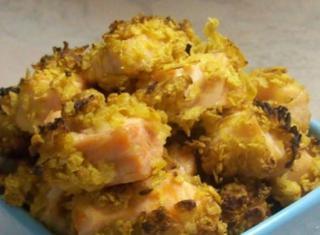 Salmone supercroccante impanato con i corn flakes