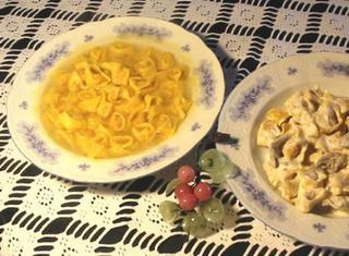 Veri tortellini bolognesi (ripieno crudo)