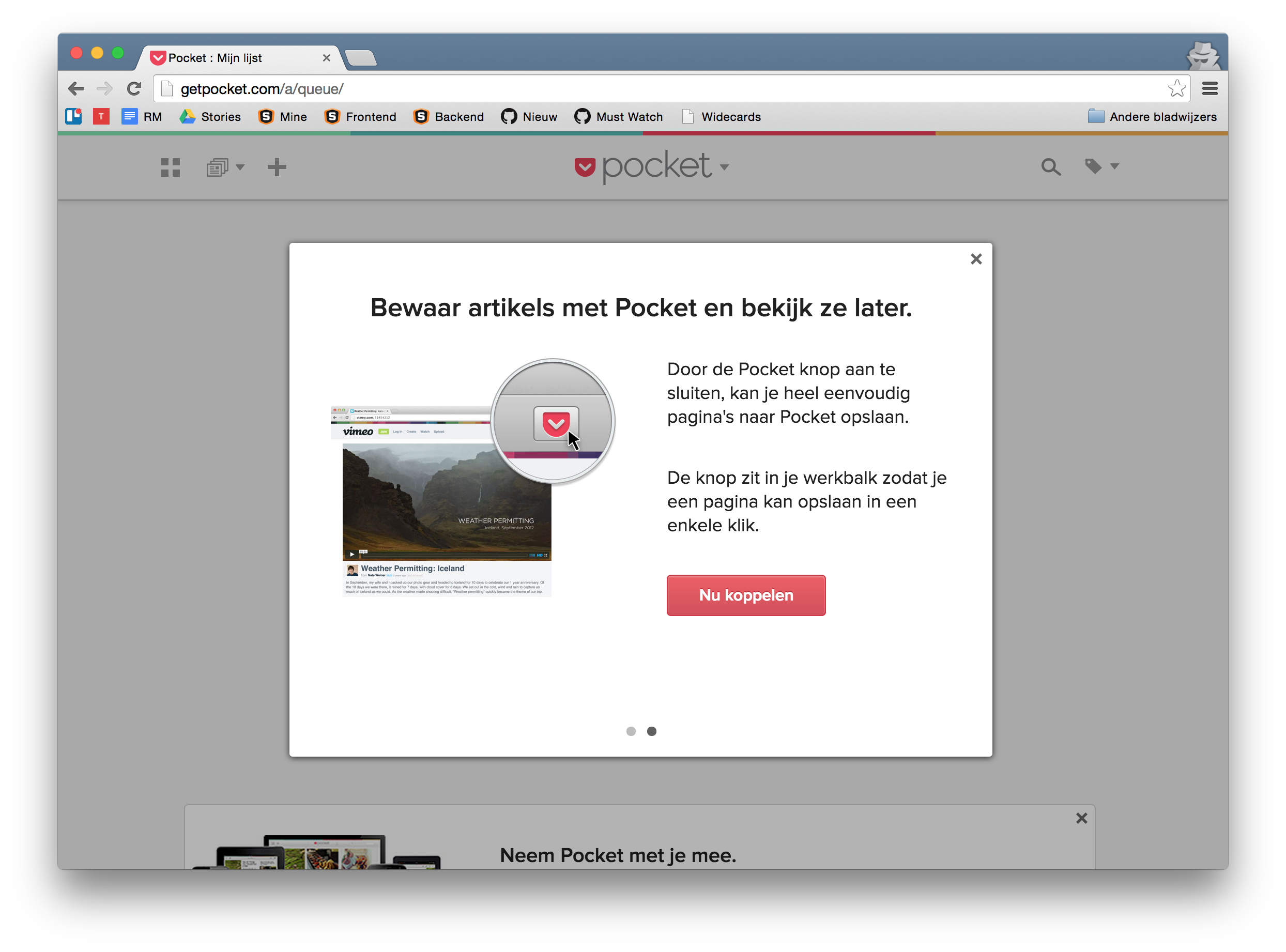 Pocket add to browser