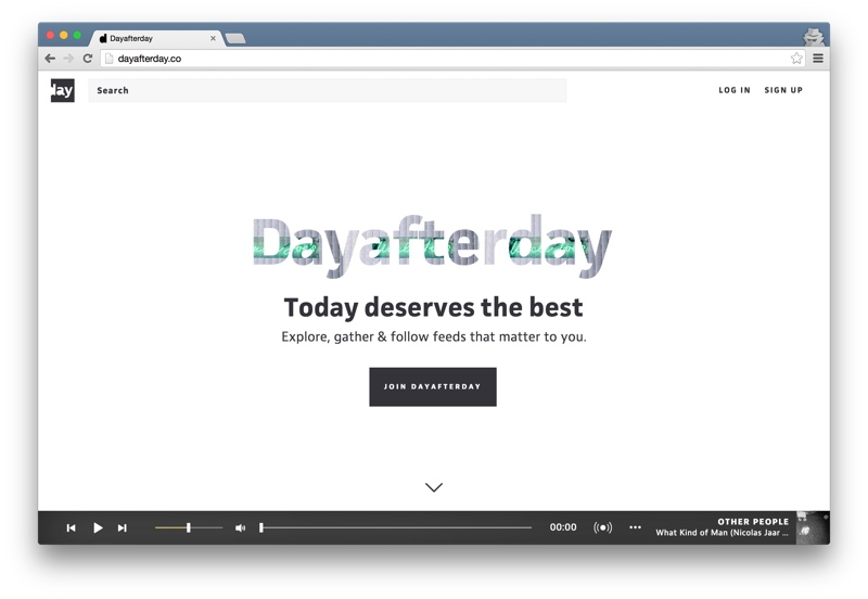 Dayafterday home page