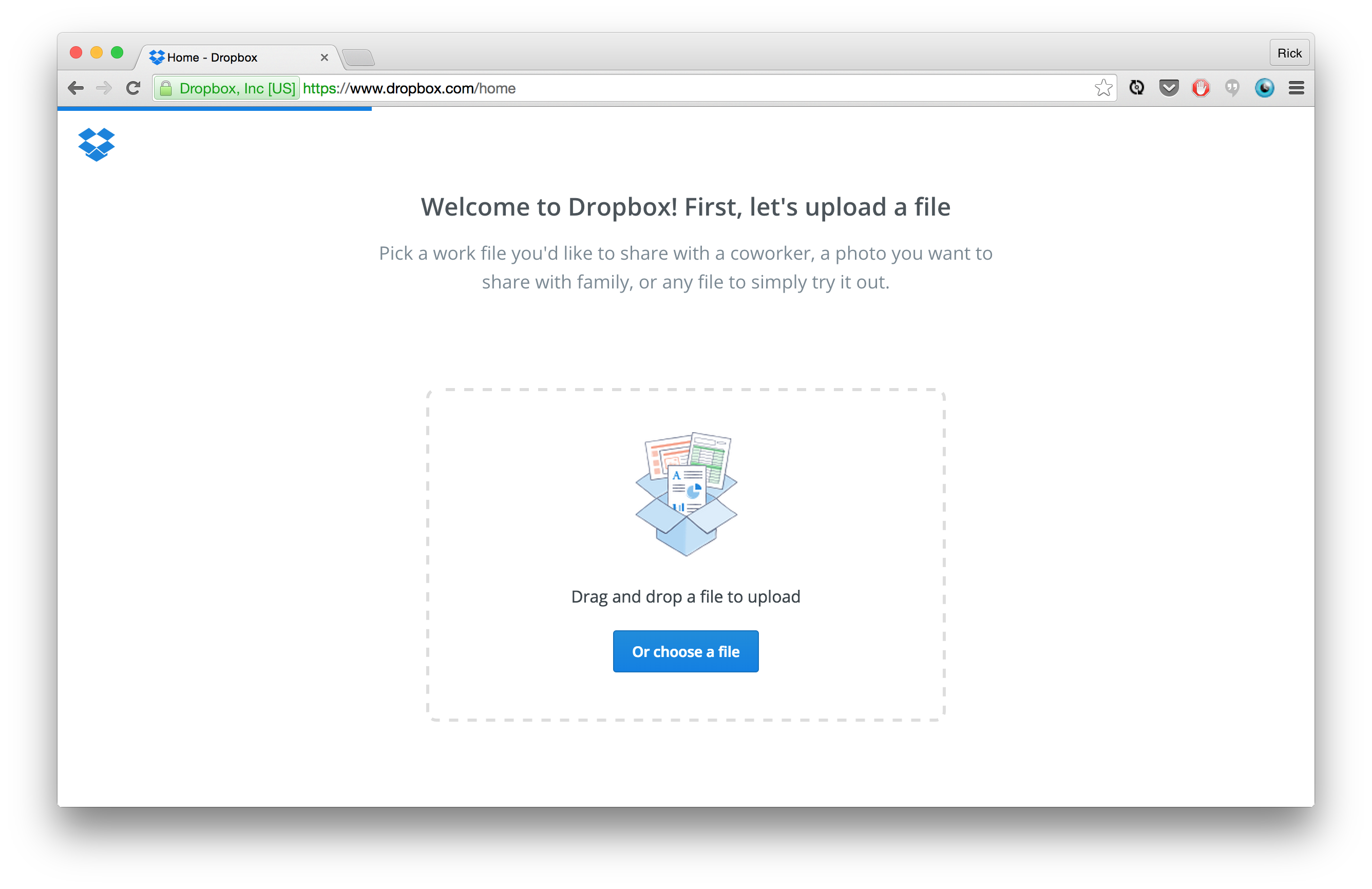 Dropbox Upload a File